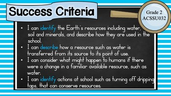 Grade 2 All SCIENCE Learning Goals/success criteria posters Aust Curric.