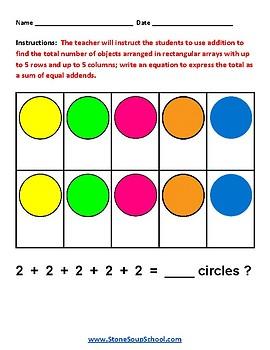 Grade 2 -  Arkansas -  Algebraic Operations  - Common Core