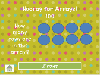 Grade 2 Arrays, Even and Odd Numbers Interactive Common Core Math Jeopardy!