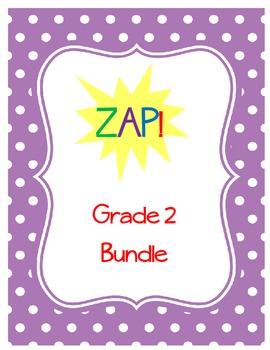 ZAP! Sight Word & Word Work Game ~ Grade 2 BUNDLE (3 Word lists!)