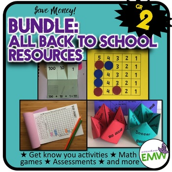 Grade 2: Back to School Math Bundle
