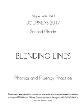 Grade 2 Blending Lines Units 1-6 to align with HMH Journeys 2017