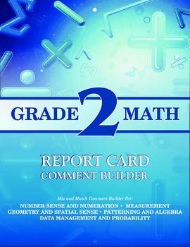 Grade 2 Bundle: Math and Language Comment Builder