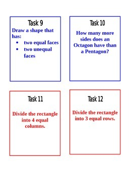 Grade 2 CCSS Geometry Task Cards