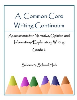 Grade 2 CCSS Writing Continuum