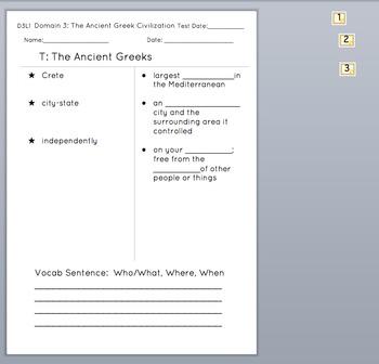 Grade 2 CKLA L & L : Domain 3 Ancient Greek Civilization