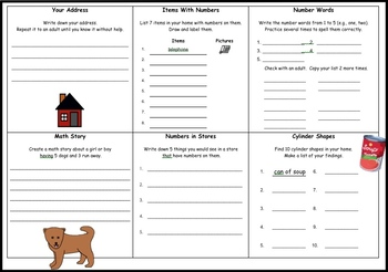 Grade 2 Canadian Mathematics Homework Calendar 2018-2019