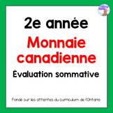 Grade 2 Canadian Money Test (French)