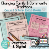 Grade 2 Changing Family & Community Traditions Printable &