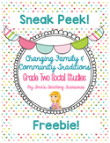 Grade 2 Changing Family and Community Traditions: Sneak Peek! Freebie!