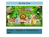 "2nd Grade   Chapter 3 Math Performance task ""The zoo"""