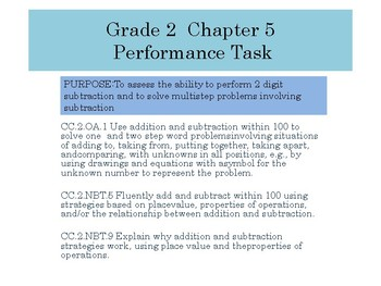 Grade 2  Chapter 5  Performance task as PDF