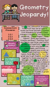 Grade 2 Geometry Common Core Math Jeopardy!