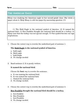 Grade 2 Common Core Language: Editing and Revising -- Social Studies