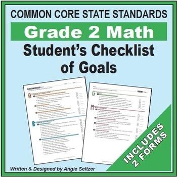 Grade 2 Common Core Math Communication Bundle (Posters, Goal Signs, Checklists)