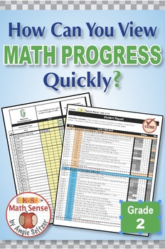 Grade 2 Common Core Math EXCEL Goal Tracker Spreadsheet with Paper Trail
