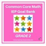 Grade 2 Common Core Math IEP Goal Bank