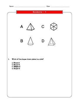 Grade 2 Common Core Math Worksheets: Geometry 2.G 1 #2