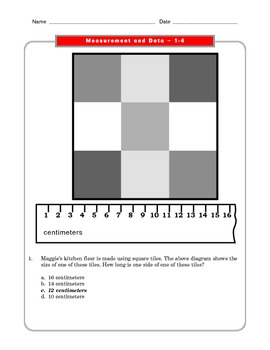 Grade 2 Common Core Math Worksheets: Measurement and Data 2.MD 1-3 #1