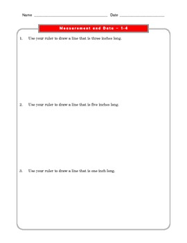 Grade 2 Common Core Math Worksheets: Measurement and Data 2.MD 1-3 #1-3