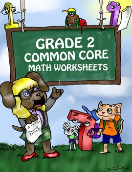 Grade 2 Common Core Math Worksheets: Measurement and Data 2.MD 10 #1-6