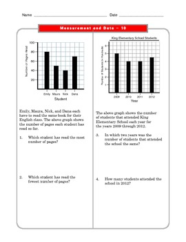 Grade 2 Common Core Math Worksheets: Measurement and Data 2.MD 10 #6