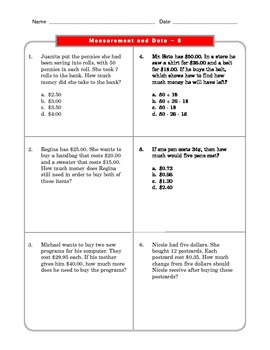 Grade 2 Common Core Math Worksheets: Measurement and Data 2.MD 8 #3