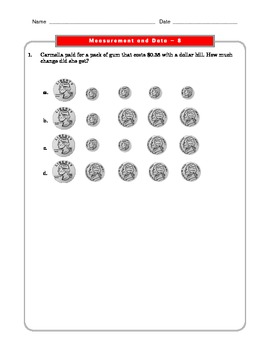Grade 2 Common Core Math Worksheets: Measurement and Data 2.MD 8 #4
