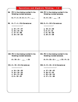 Grade 2 Common Core Math Worksheets: Operations & Algebraic Thinking 2.OA 1-2 #6