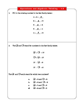 Grade 2 Common Core Math Worksheets: Operations & Algebraic Thinking 2.OA 1-2 #7