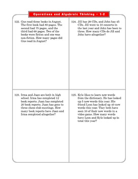 Grade 2 Common Core Math Worksheets: Operations & Algebraic Thinking 2.OA 1-2 #8