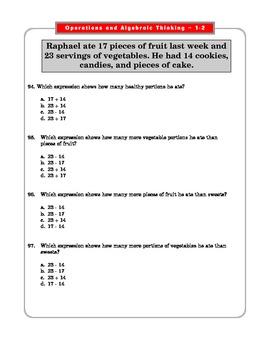 Grade 2 Common Core Math Operations & Algebraic Thinking 2.OA1-B1  #1-8