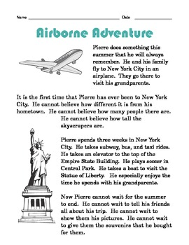 Grade 2 Common Core Reading: Airborne Adventure