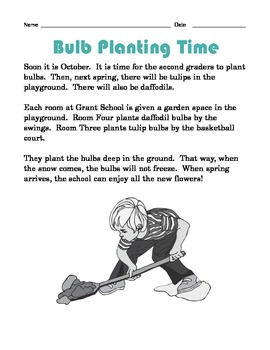 Grade 2 Common Core Reading: Bulb Planting Time