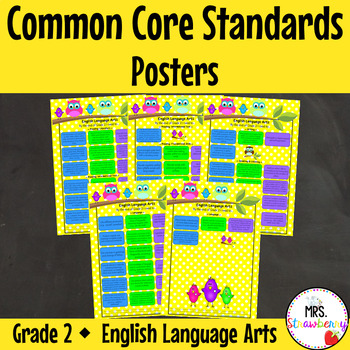 Grade 2 Common Core Standards Posters {English Language Arts} Owl Theme