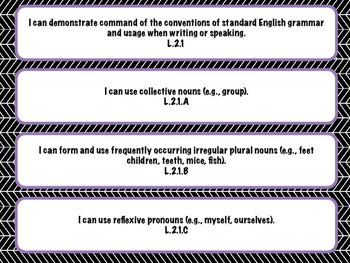 """Grade 2 Common Core Standards """"I Can"""" Statements"""