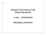Grade 2 Common Core State Standards ELA I Can Statements
