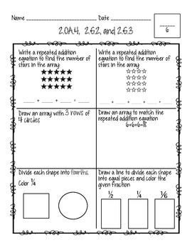 Grade 2 Common Core Summative Math Assessment
