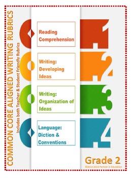 Grade 2: Teacher/Student Friendly Common Core/PARCC Aligned Writing Rubrics