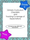Ontario Math Curriculum Checklist and Tracking of Expectat