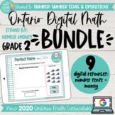 Grade 2 DIGITAL Math BUNDLE 2020 Ontario | Strand B: Numbe
