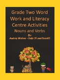 Grade 2 Daily 5 Word Work or Literacy Center Nouns and Verbs Worksheets