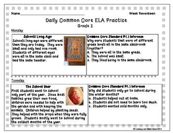 Grade 2 Daily Common Core Reading Practice Week 17 {LMI}
