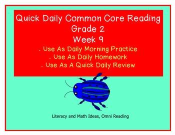 Grade 2 Daily Common Core Reading Practice Week 9 {LMI}