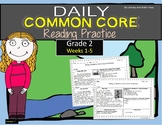 Grade 2 Daily Common Core Reading Practice Weeks 1-5 {LMI}