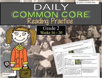 Grade 2 Daily Common Core Reading Practice Weeks 16-20 {LMI}