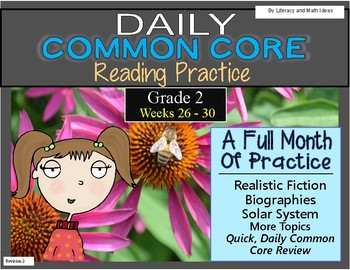 Grade 2 Daily Common Core Reading Weeks 26-30 {LMI}