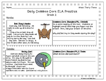 Grade 2 Daily Common Core (Weeks 31-35)