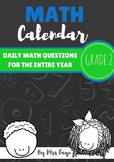 Grade 2 Daily Math Calendar Questions
