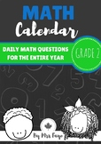 Grade 2 Daily Math Calendar Questions - Canadian Version